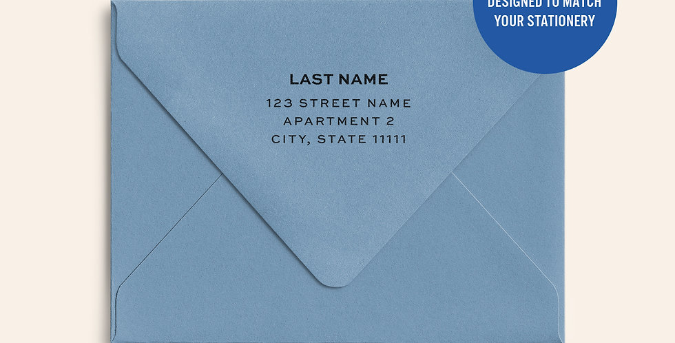 Return Address Printed Colored Envelope- New Blue