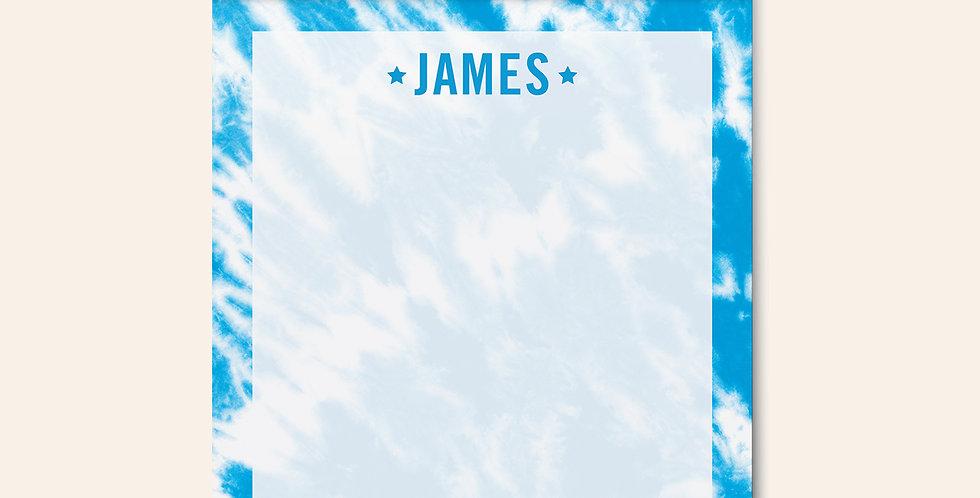 Tie Dye Notepad • Blue