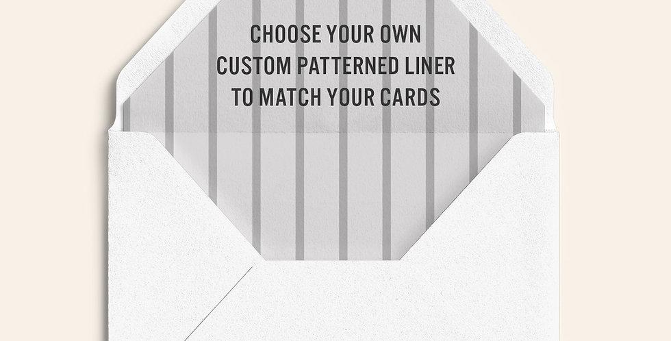 CUSTOM Triangle Flap Envelope Liner