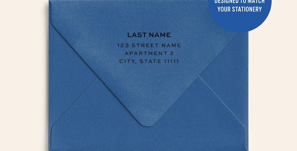 Return Address Printed Colored Envelope- Adriatic