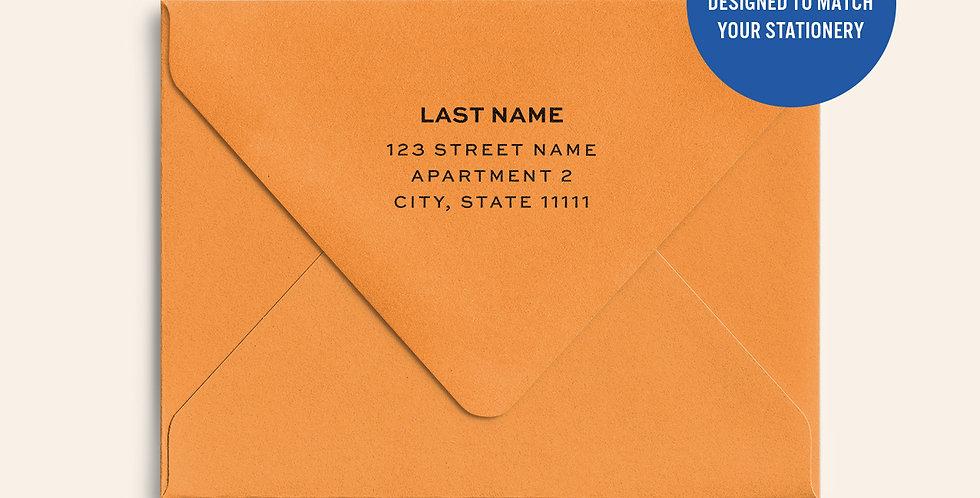 Return Address Printed Colored Envelope-Orange Fizz