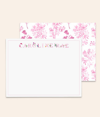 Floral Letters • Pink