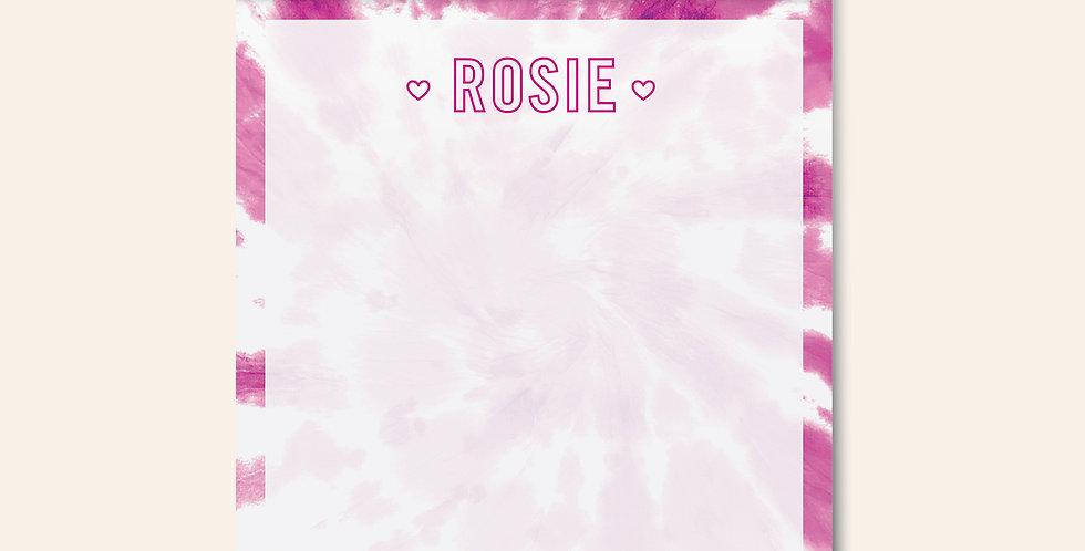 Tie Dye Notepad • Pink