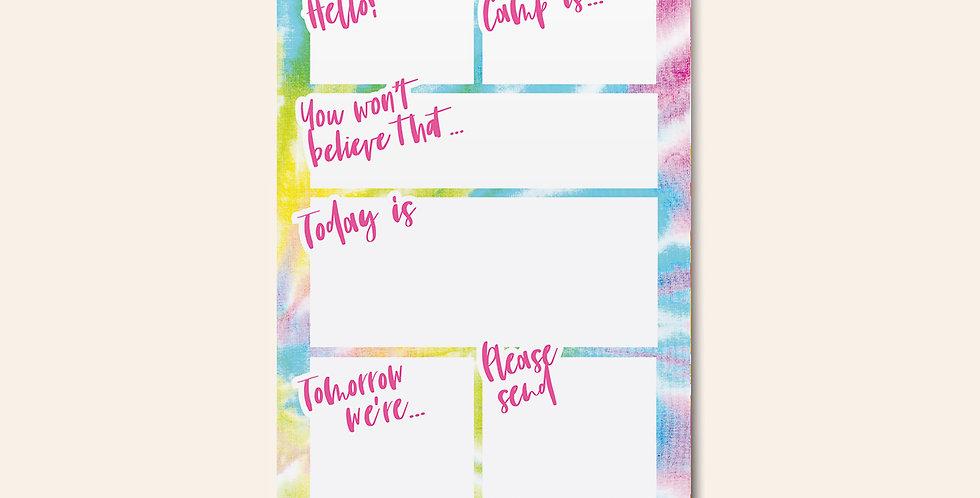 Camp Notepad • Rainbow Tie Dye