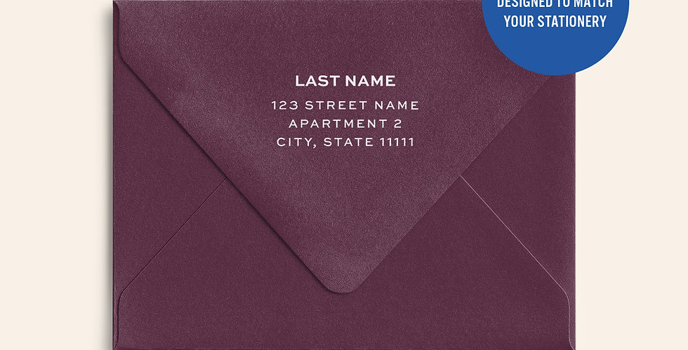 Return Address Printed Colored Envelope-Claret