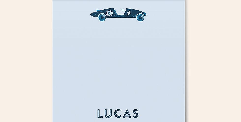 Race Car Notepad • Blue