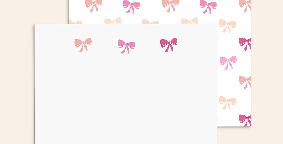 Ombre Hand Drawn Bow Set ▪ Pink