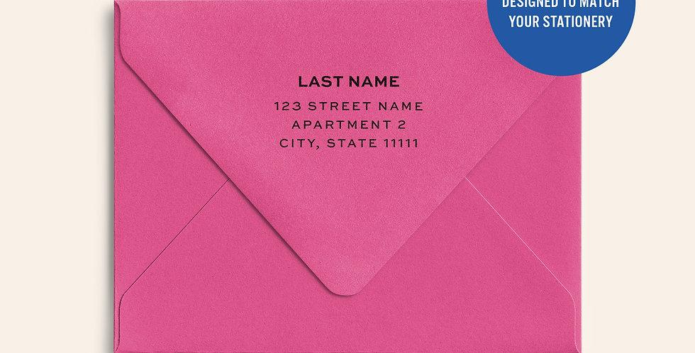 Return Address Printed Colored Envelope- Fuchsia Pink