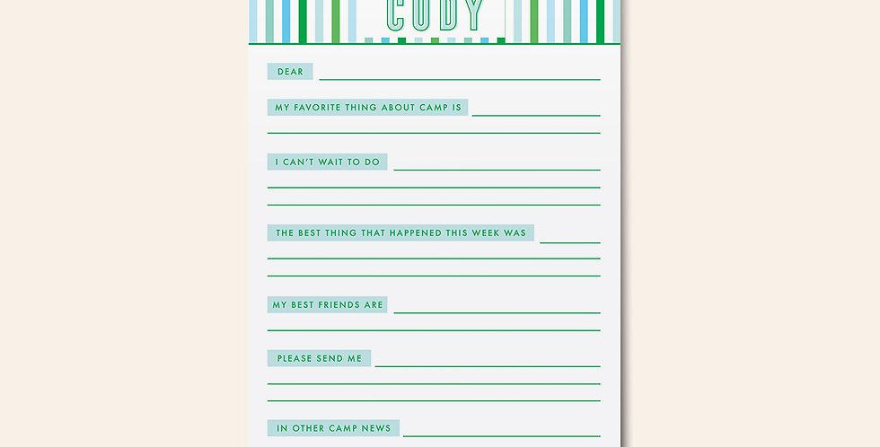 Camp Notepad • Blue Stripe