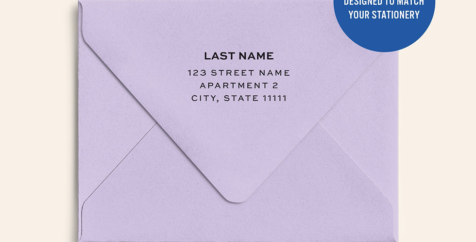 Return Address Printed Colored Envelope- Grapesicle