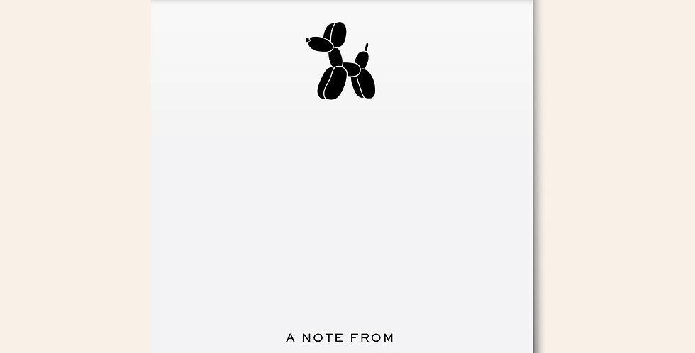 Modern Dog Notepad • Black