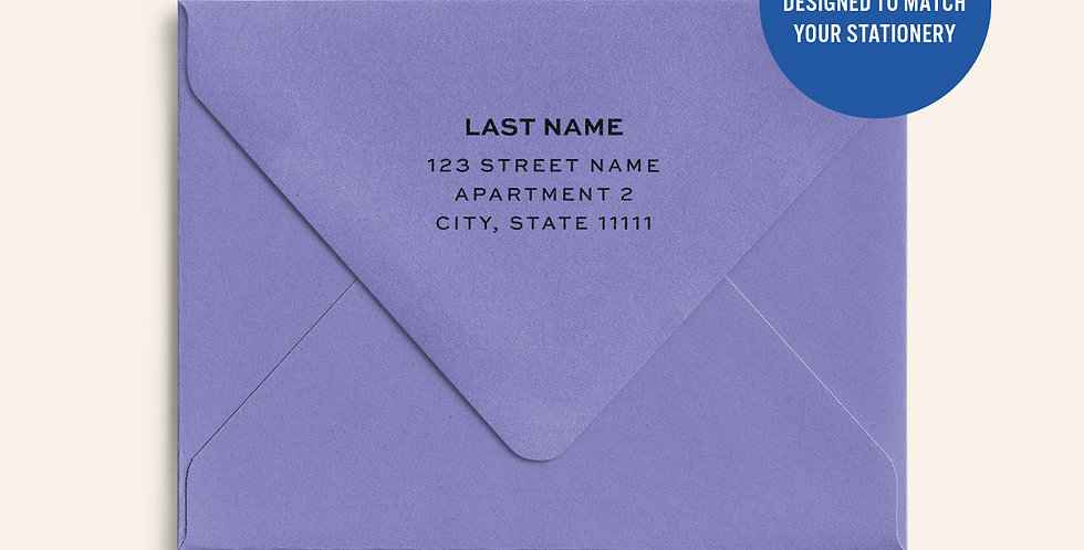 Return Address Printed Colored Envelope- Grape Jelly