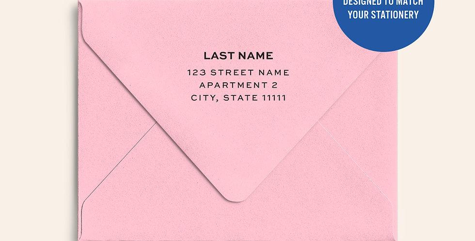 Return Address Printed Colored Envelope- Candy Pink