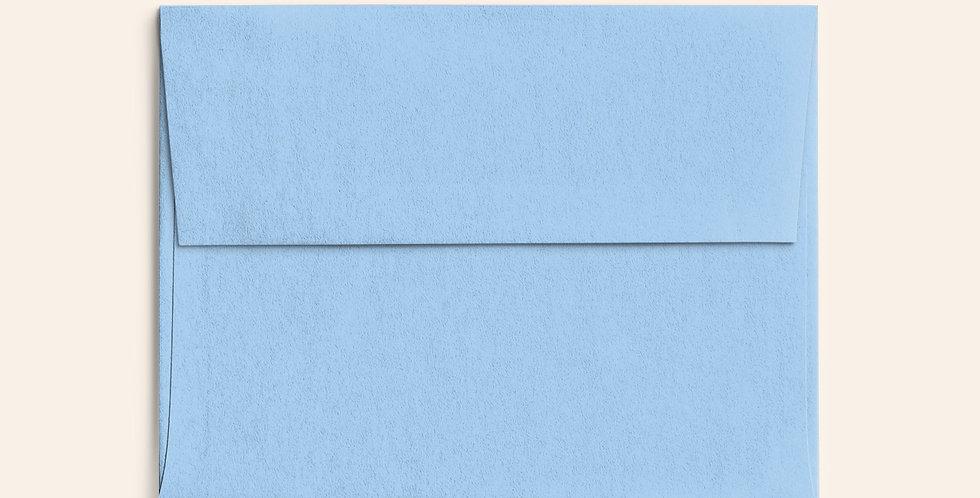 Colored Envelope - Azure Blue