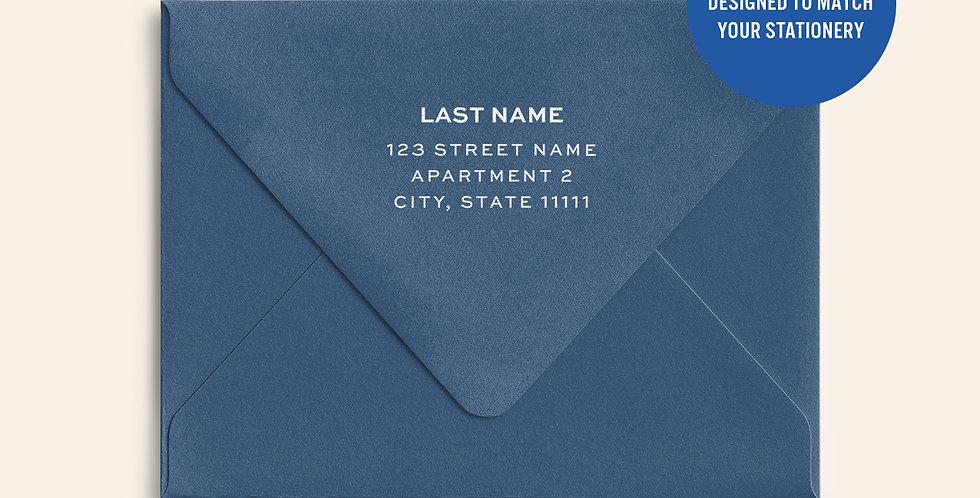 Return Address Printed Colored Envelope-Cobalt
