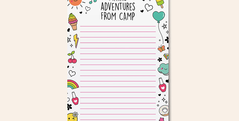 Camp Notepad • Rainbow Doodle