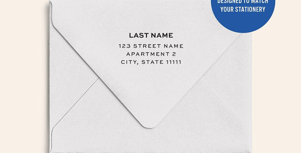 Return Address Printed Colored Envelope- Cool Grey