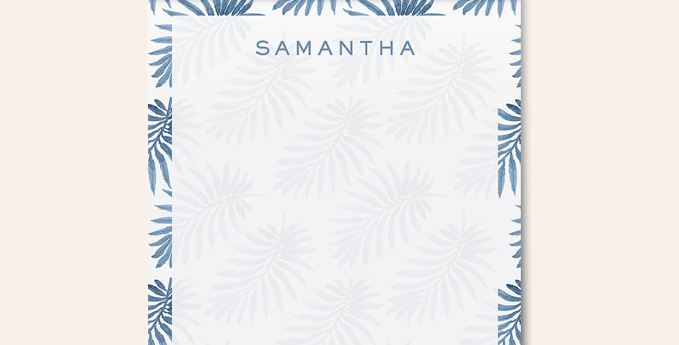 Palm Leaves Notepad • Blue