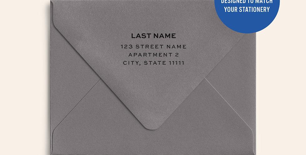 Return Address Printed Colored Envelope- Smoke