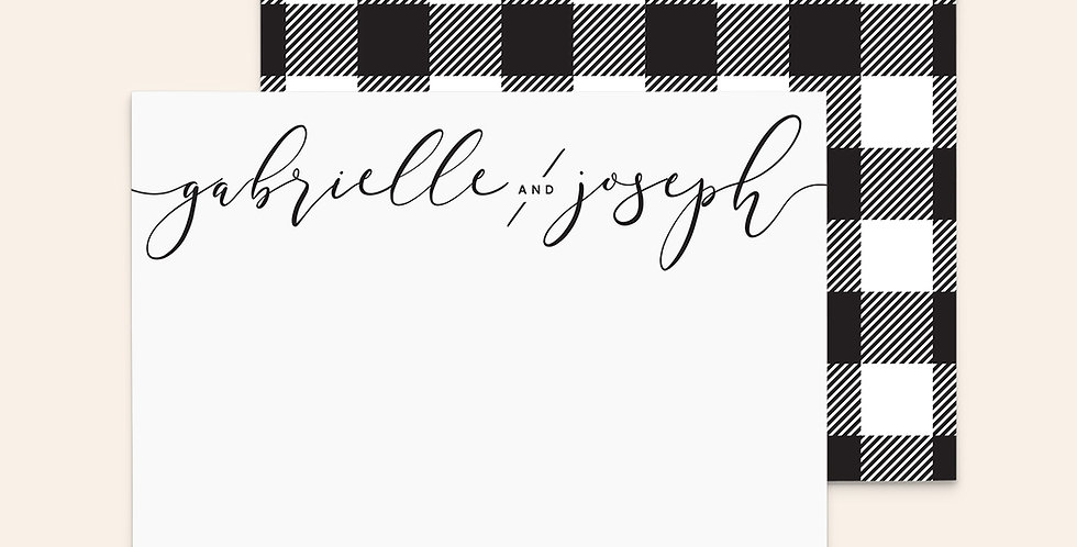 Buffalo Check ▪ Black and White
