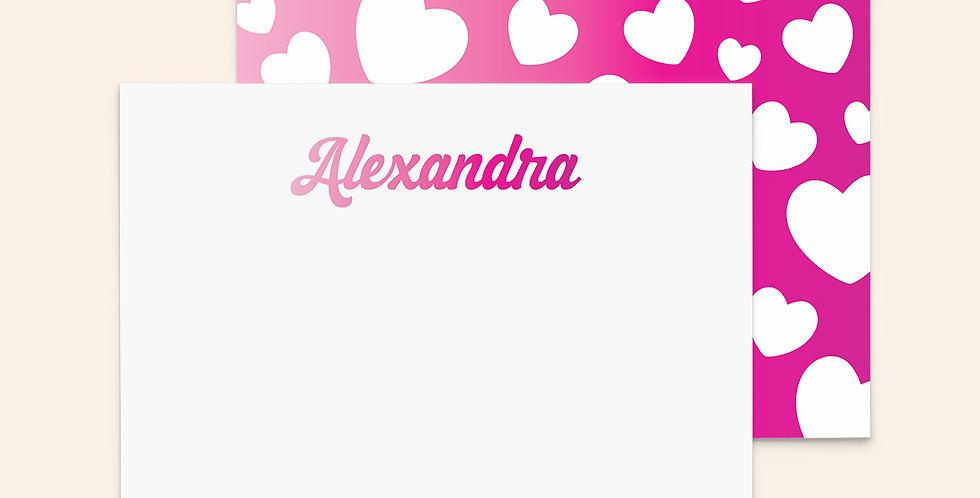 Retro Ombre Hearts • Pink
