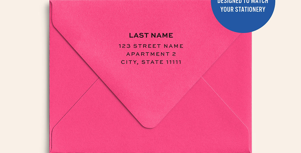 Return Address Printed Colored Envelope- Watermelon