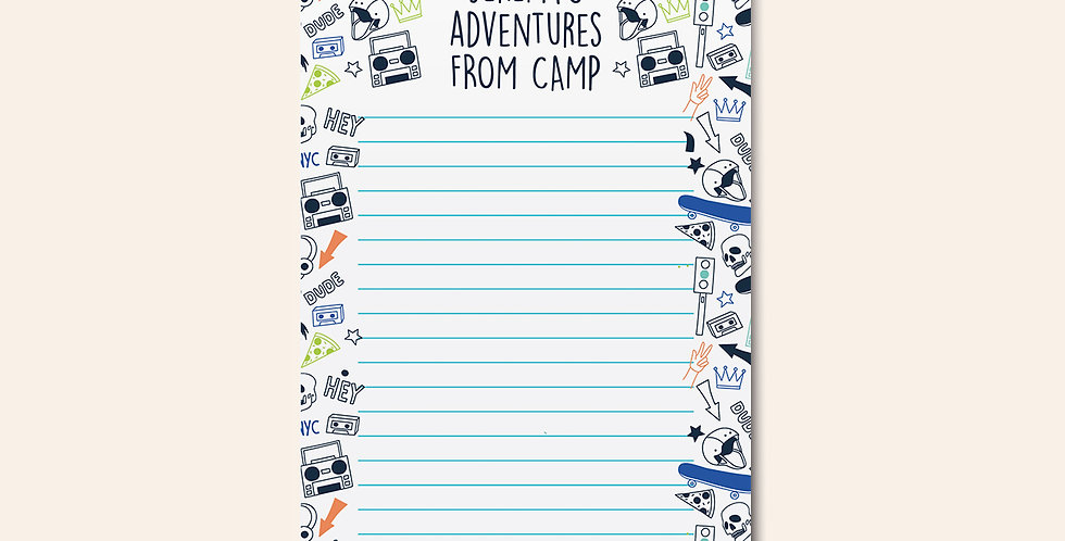 Camp Notepad • Cool Dude Doodle
