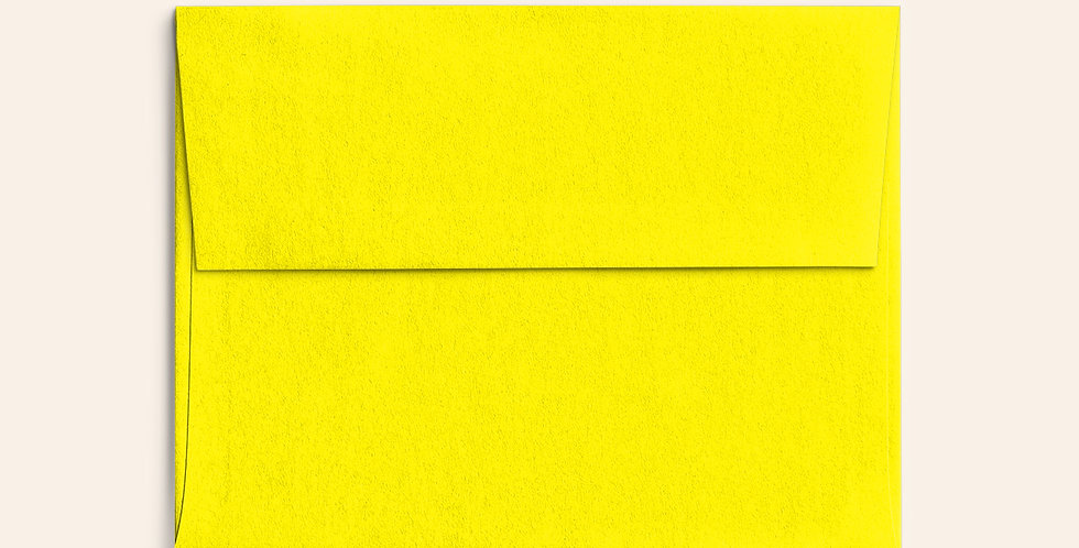 Colored Envelope - Factory Yellow