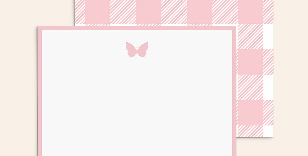 Gingham Butterfly ▪ Pink