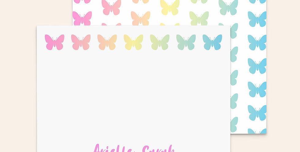 Ombré Butterflies • Rainbow Row