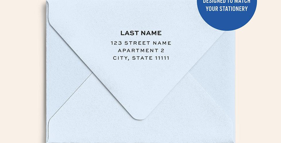 Return Address Printed Colored Envelope- Cool Blue