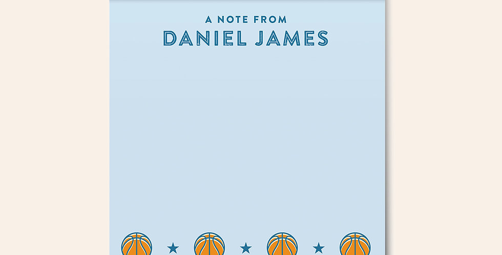 Basketball Star Notepad • Blue