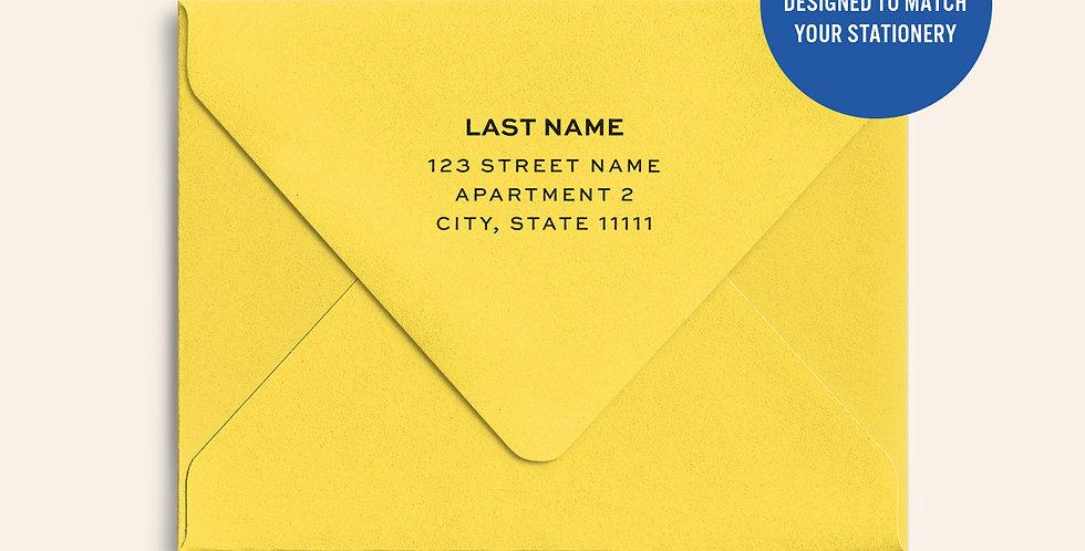 Return Address Printed Colored Envelope- Lemon Drop