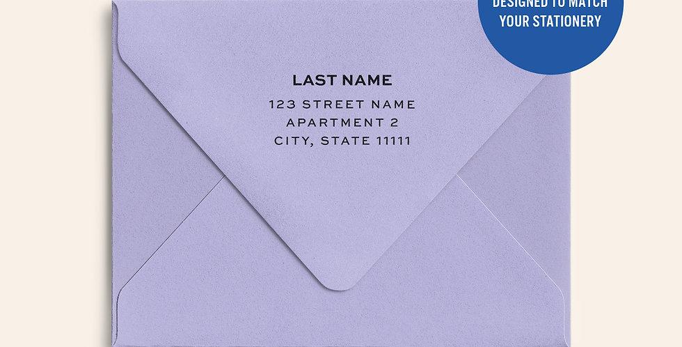 Return Address Printed Colored Envelope- Lavender