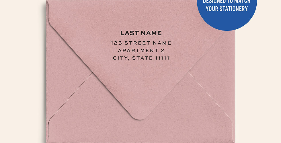 Return Address Printed Colored Envelope- Dusty Rose