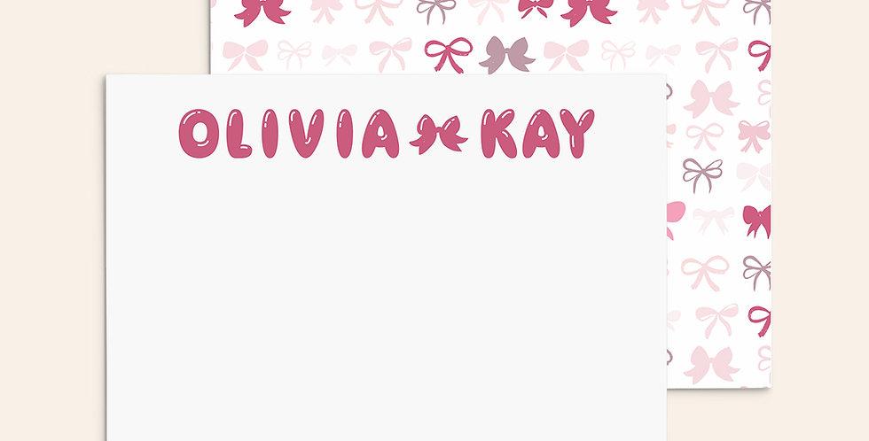 Bubble Letters ▪ Pink Bows