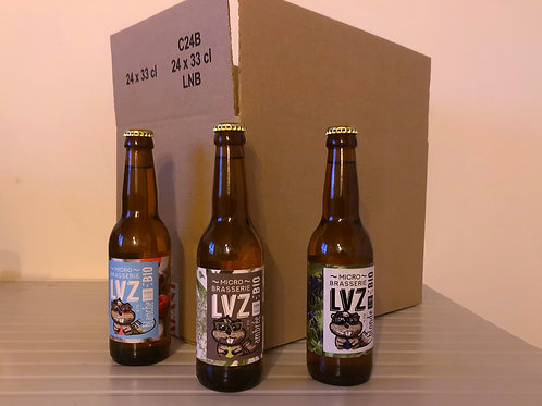 Carton de Bières mélangées x24
