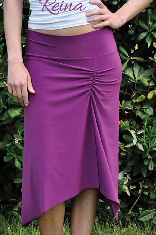 Asymmetrical skirt with slits