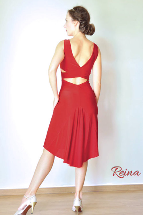 Cross back dress with tail