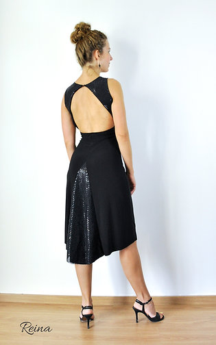 Black dress with sequin