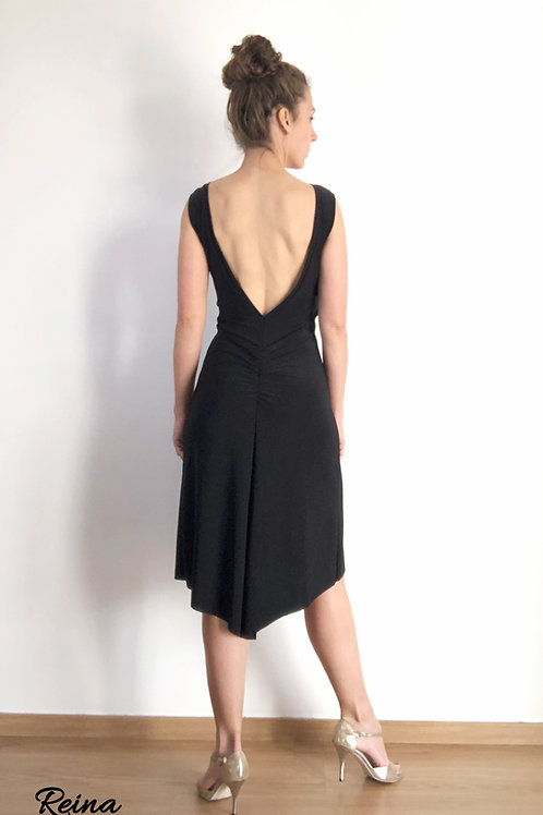 Low back ruched dress