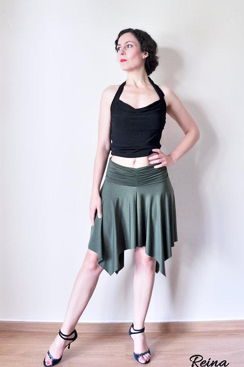 Green olive skirt