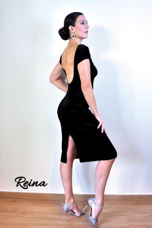 Velvet dress short sleeve