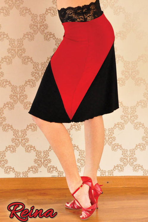 Black and red skirt with lace