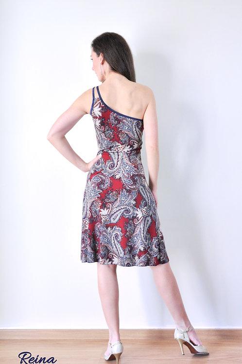 Paisley one strap dress
