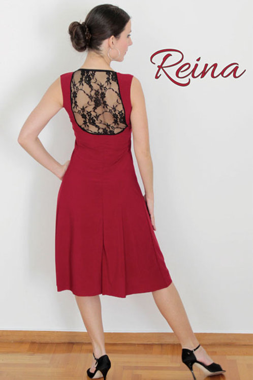 Red / Black dress with lace