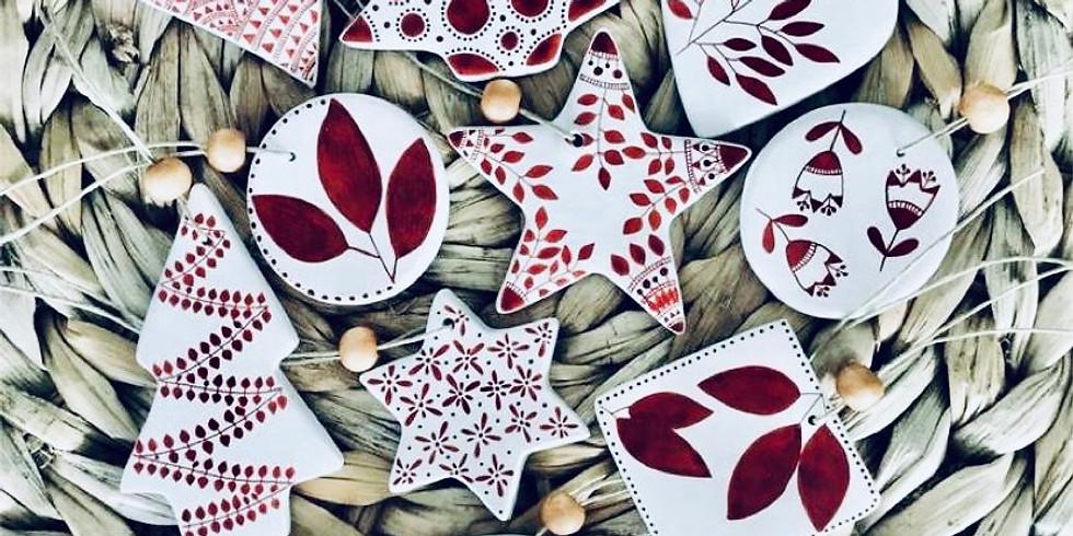 Create clay ornaments