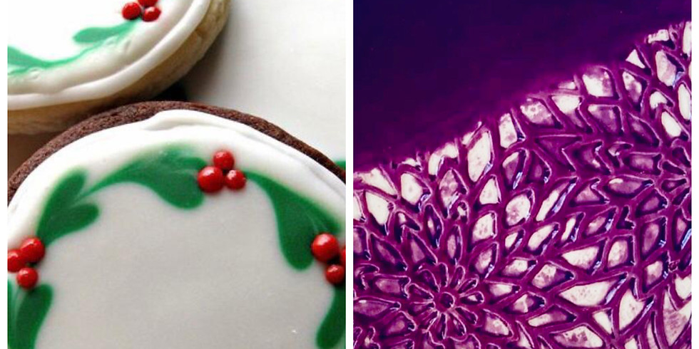 Festive cookies and clay