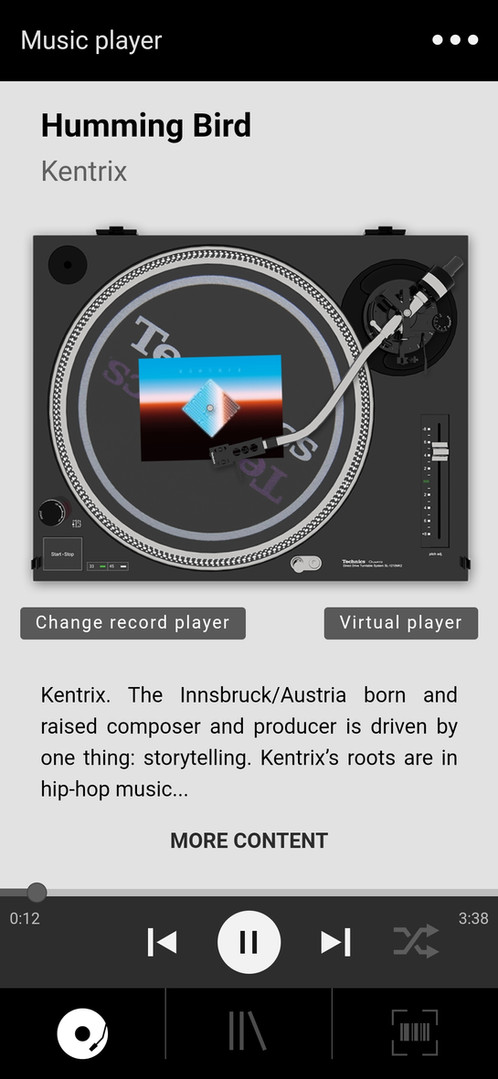 Vinylpostcards App - Screenshot 1