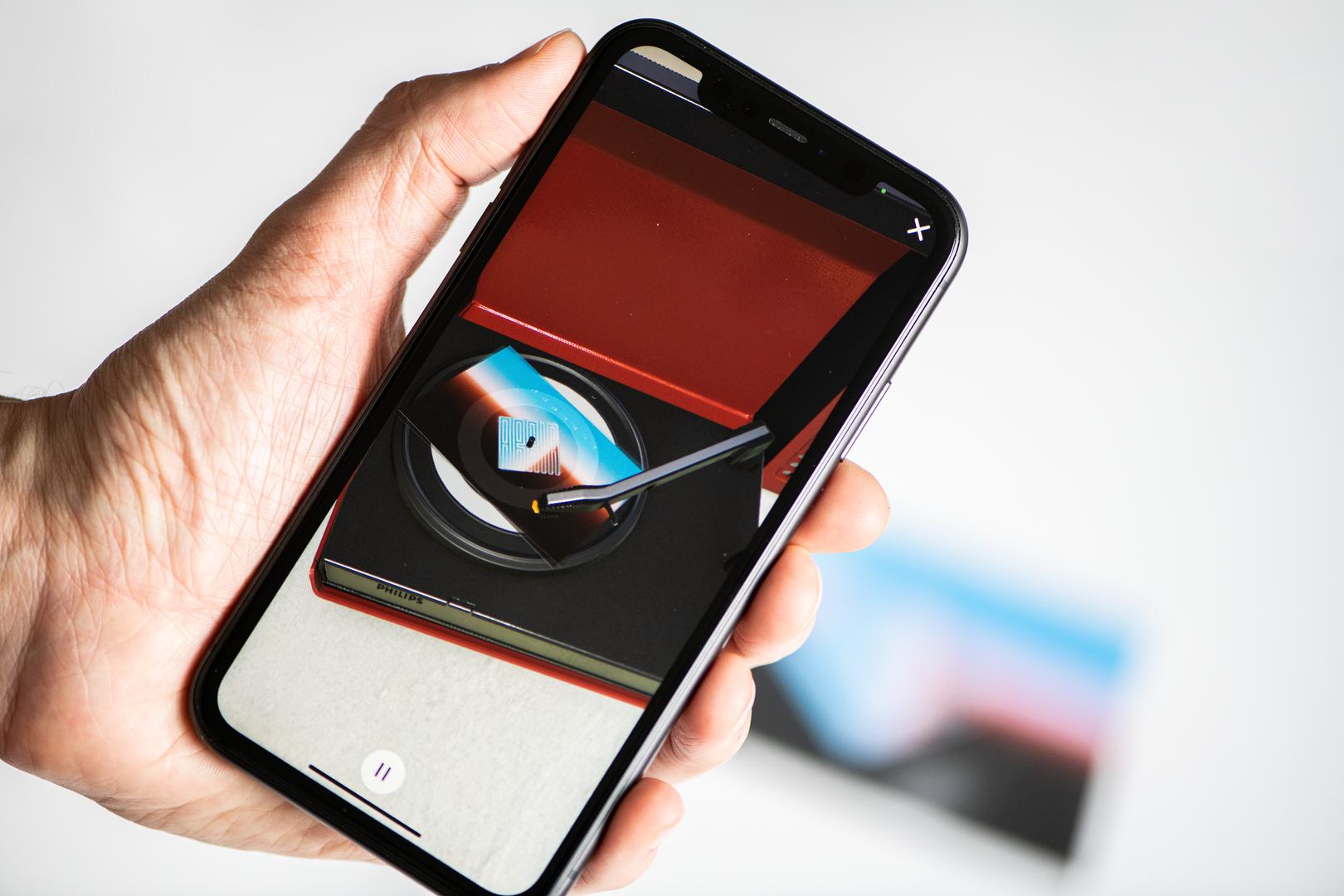 Vinylpostcards App - AR Player 1